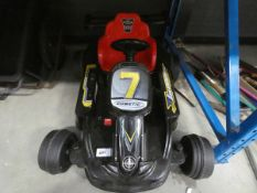 4030 Black racing car style child's electric car
