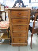 A Victorian 5 drawer pedestal