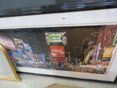 Framed and glazed print, New York cityscape