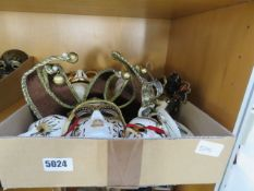 A box containing a quantity of modern Venetian-style masks