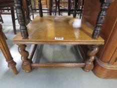 An oak barley twist low slung side table