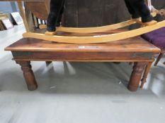 A Sheesham coffee table