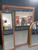 Rectangular mirror in pine frame