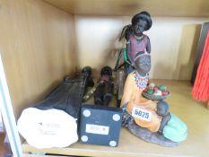5 resin African figures