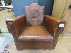 A child's rexine armchair