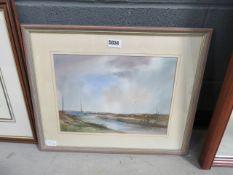 (3) B. Beinbridge - watercolour yachts in estuary (1988)