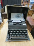 A Hermes 2000 boxed typewriter