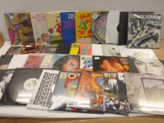 Selection of LP records including Over Kill, The Jam, Depeche Mode, David Bowie, Madonna, Motorhead,