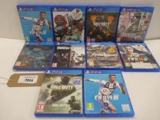 10 PS4 games including Fifa14 & 19, Call of Duty black Ops & Infinite Warfare and other titles
