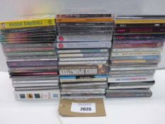 Bag containing 60 plus various titled CD's
