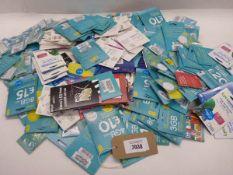 Bag containing quantity large quantity of various SIM cards