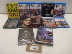 12 various titled blu-ray films