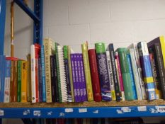Shelf comprising of large selection of hardback/paperback reference materials and study books inc.