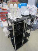 3447 - 2 4 tier glass shelves