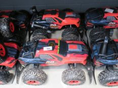 2 Powerdrive remote control trucks with no charger and controllers