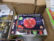 9 DIY apple crystal puzzles with LED flashes