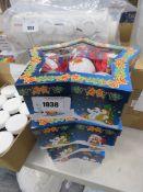 4 snowmen Christmas bauble sets