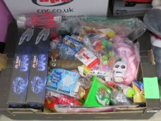 Tray of mixed assorted toys inc. UFO, small party toys etc