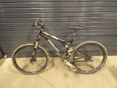 Black Specialized suspension mountain cycle