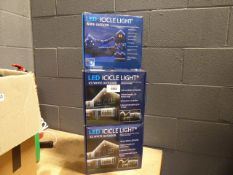 5 boxes of LED icicle lights