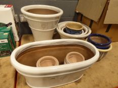 Large quantity of assorted garden pots