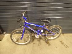 Blue Riptide child's cycle with stabilisers