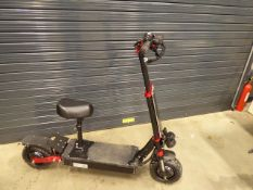 Red and black heavy duty 3 speed electric scooter with chargers