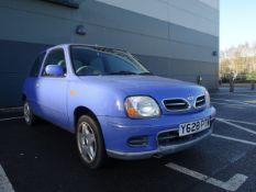 Y628 PTM (2001) Nissan Micra Activ 3 door hatchback, petrol in blue MOT: 12/7/2021