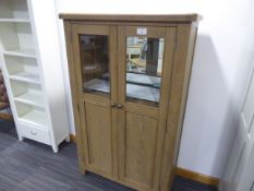 Wessex Smoked Oak Extra Large Tall Drinks Cabinet (67)