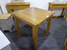 Rutland Oak Square Fixed Top Table (105)