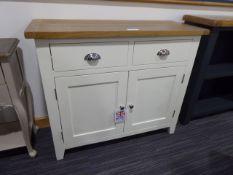 Chester White Painted Oak 2 Door Medium Sideboard (28)