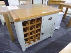 Hampshire Grey Painted Oak Small Sideboard Wine Rack