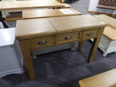 Wessex Smoked Oak Dressing Table With Mirror (21)