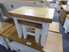 Hampshire White Nest of 2 Tables (4)