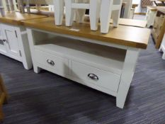 Chester White Painted Oak Small TV Unit (50)