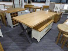 Urban Industrial Oak 1.8m Dining Table (9)