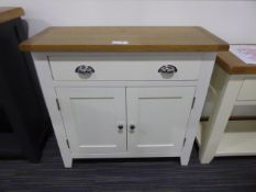 Chester White Painted Oak 2 Door Small Sideboard (2)