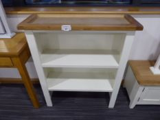 Chester White Painted Oak Small Sideboard Dresser Top (85)