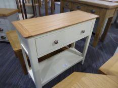 Malvern Shaker Ivory Painted Oak Hall Table (51)