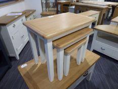 Gloucester White Painted Oak Nest of 3 Tables (17)