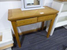 Oak 2 drawer dressing table
