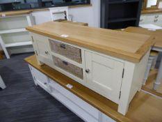 Salisbury Ivory Painted Oak Large TV Unit with Baskets (13)
