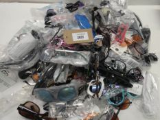 Bag containing quantity of loose sunglasses and reading glasses