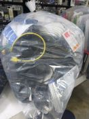 Bag containing various electrical cabling, network cable adaptors, AV cables, power adaptors, etc