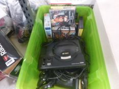 2 Sega Megadrive Generation 1 consoles with controllers and various games which include Sonic the