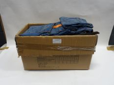 Box containing 35 Jessica Simpson roll crop denim jeans (various sizes)