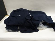Bag containing Champion t-shirts in dark blue (various sizes)