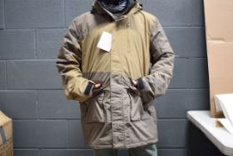 Rod & Gun hooded jacket in two tone brown, size M