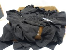 Box containing 16 pairs of BC Clothing ladies trousers in black (various sizes)