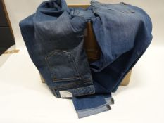 Box containing approx 40 pairs of Jessica Simpson roll crop skinny denim jeans (various sizes)